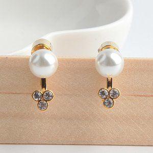 Michael Kors Simple White Pearl Earrings